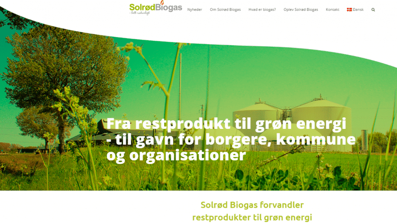 Solrød Biogas' hjemmeside