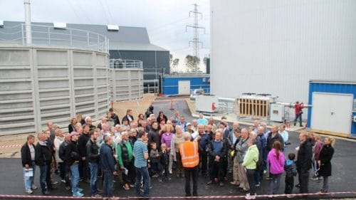 Besøgende på biogasanlæg