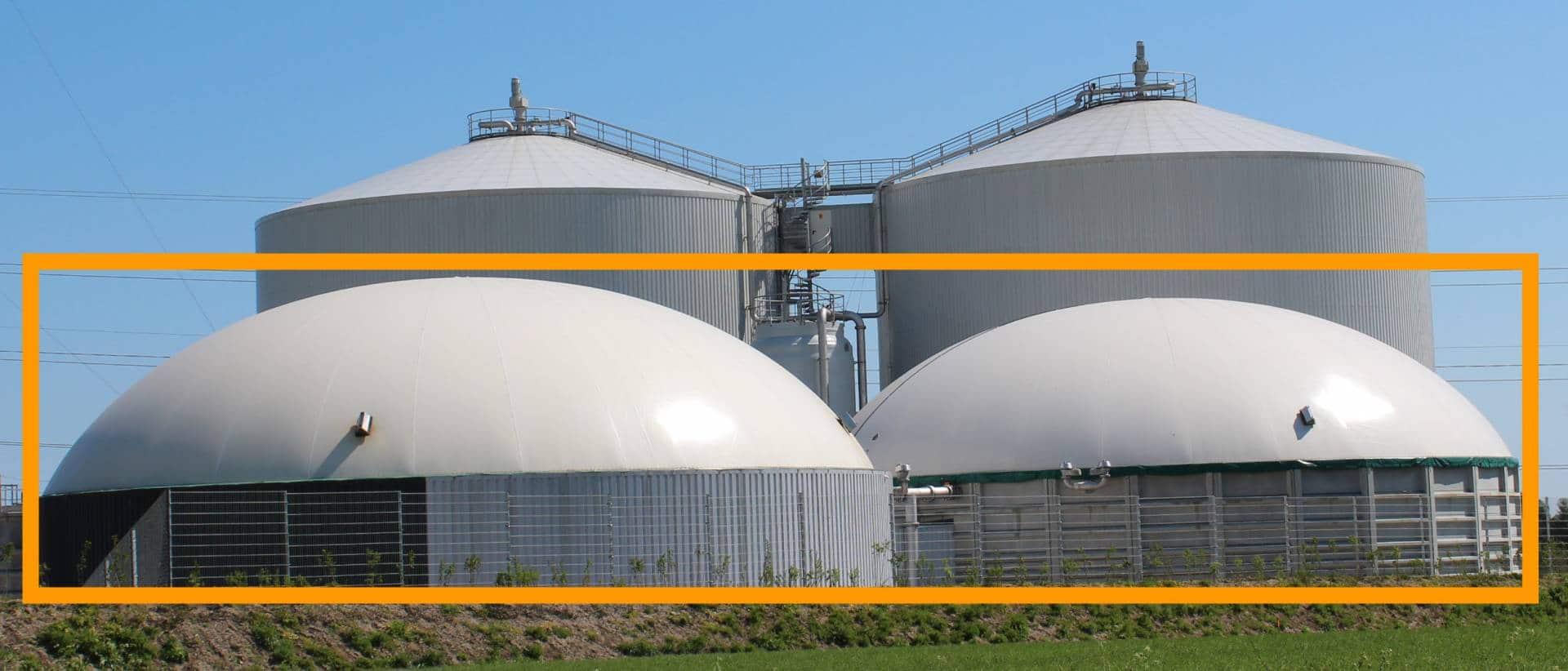 Fig. 36 Biogaslager på Solrød Biogas