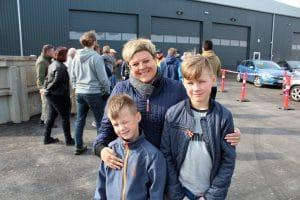 Trine Ramstedt og sønner, Åbent hus, Solrød Biogas