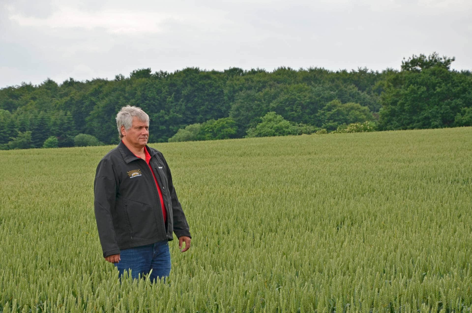Birger Niemann benytter biogødning fra Solrød Biogas