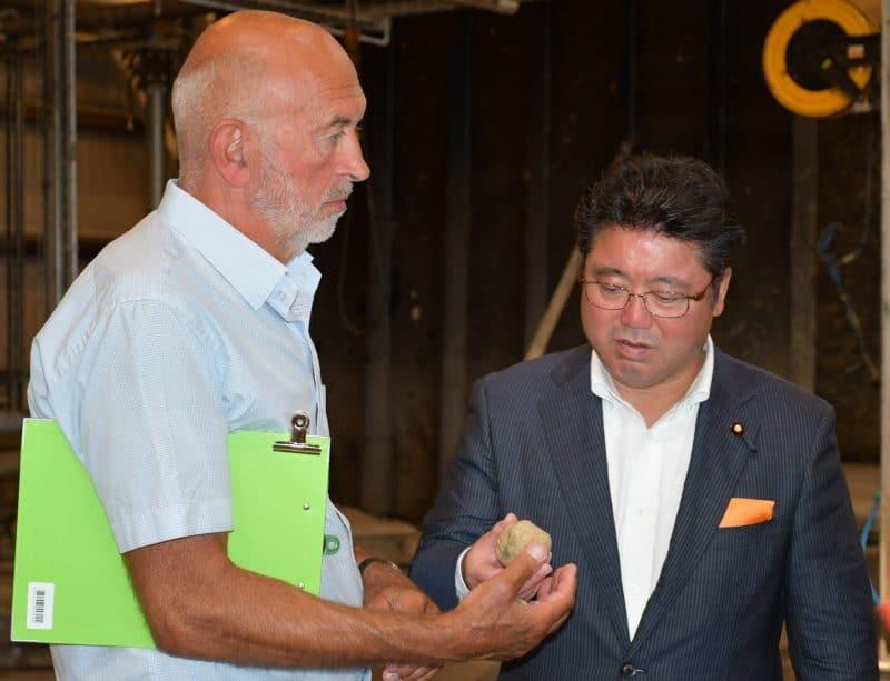 Mr. Mikio Shimoji besøger Solrød Biogas