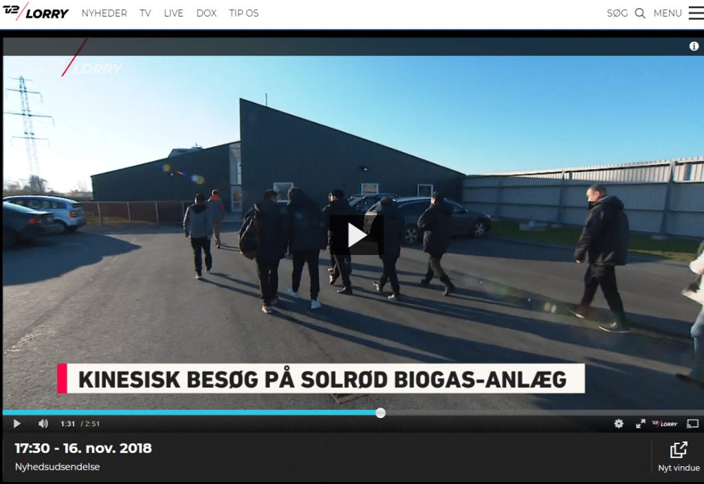 Solrød Biogas i TV2 Lorry